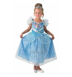 Costum carnaval fete Cenusareasa de lux cu coronita