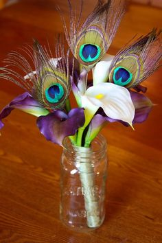 Peacocks and purple lillies, my new favorite things :) May just have to get married one day so I have a reason to use them lol