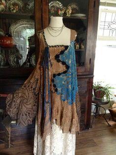 Luv Lucy crochet dress Lucy's Blue Monday par LuvLucyArtToWear, $240.00