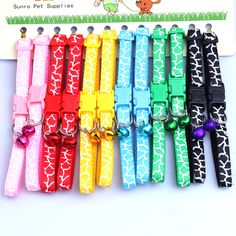6 color type pet belt necklace scalable leash dog collar chain ring the bell pet supplies pet accessories #>=#>=#>=#>=#> Click on the pin to check out discount price, color, size, shipping, etc. Save and like it!