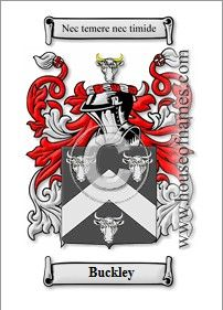 Crest for family name Buckley.