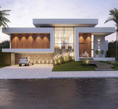 Ideas Exterior Facade House Architects For 2019 Modern House Facades, Modern Architecture House, Modern House Plans, Architecture Design, Architecture Colleges, System Architecture, Modern Garage, Vintage Architecture, Architecture Awards