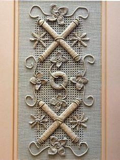 Casalguidi Embroidered Hanging ~ from 'Embroidery Techniques Using Space-Dyed Threads' by Via Laurie (Search Press)