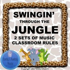 Music Room Rules with a Swingin' Jungle Theme! Dancing Jungle Animals help you post your expectations in style. **These posters are also part of a great Jungle Themed Decor Bundle- Check it out and Save!** Jungle Decor