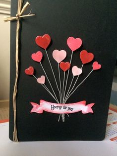 Álbum Happy Birthday Cards Handmade, Creative Birthday Cards, Diy Birthday, Greeting Cards Handmade, Valentine Day Cards, Valentines Diy, Birthday Cards For Boyfriend, Valentine's Day Diy, Anniversary Cards