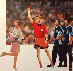 Football and fashion merge to ingenious effect in these World Cup collages from iconic photos by Kalen Hollomon. Love Collage, Another Love, Iconic Photos, Collage Artists, Robin Williams, Doodle Drawings, World Cup, Make Me Smile, Art Photography