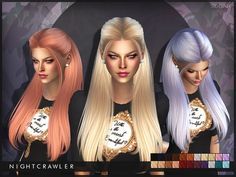 Hairstyles: Nightcrawler-Sugar from The Sims Resource • Sims 4 Downloads
