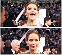 Jennifer Lawrence...and her fear of public speaking...makes her interviews all that much more hilarious.