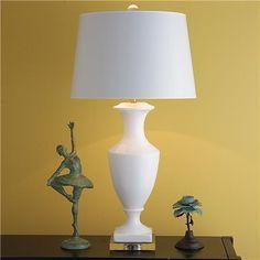 Tall Ceramic Urn Table Lamp - 2 Colors