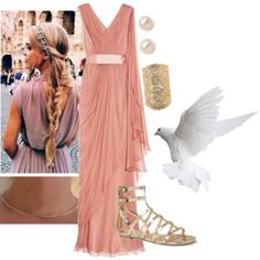 Designer Clothes, Shoes & Bags for Women Greek Goddess Costume, Goddess Dress, Dress Up Outfits, Cool Outfits, Percy Jackson Outfits, Trendy Outfits For Teens, Movie Inspired Outfits, Fandom Fashion, Fandom Outfits