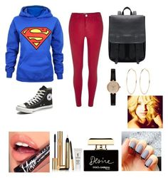 """""""Super"""" by girlofharryes ❤ liked on Polyvore featuring River Island, Converse, Barbour, Fiebiger, Yves Saint Laurent and Dolce&Gabbana"""