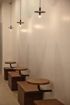 Cafe Shop Design, Coffee Shop Interior Design, Restaurant Interior Design, Yoga Room Design, Retro Cafe, Cafe House, Cafe Bistro, Restaurant Furniture, Banquette