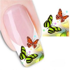 Find More Stickers & Decals Information about 6PCS Cool Butterfly Water…