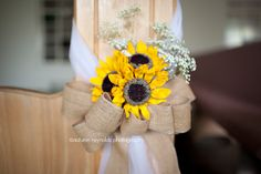 sunflower pew bow maybe add grapes hanging down