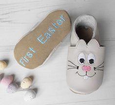 Born Bespoke Personalised Easter Bunny Baby Shoes