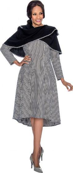a0532adb053 Terramina 7625 Church Dress with Versatile Shawl