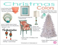 Fresh,Modern Holiday Decor: Aqua, Turquoise & Coral Color Scheme | The Decorating Diva, LLC