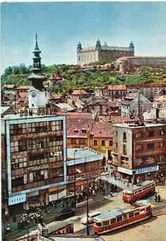 Na špacírke po Bratislave: Obchodný dom Baťa - BratislavaDen. Bratislava Slovakia, European Destination, Central Europe, Old City, Old Photos, Big Ben, Paris Skyline, Mansions, Travel