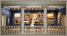 The Currier Art Museum in Manchester, NH. Not quite the Louvre, but it's a great museum.