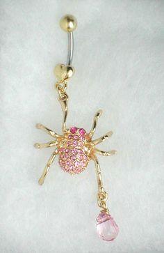 Unique Belly Ring Trendy Spider w Egg   eBay