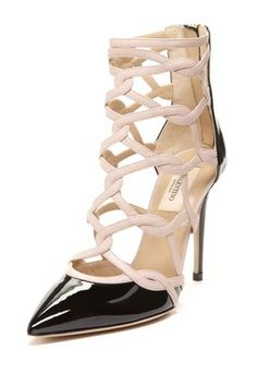 Valentino Cutout Pointy Pump
