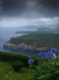 São Miguel Island, Azores in the Atlantic Ocean off of Portugal. Places Around The World, The Places Youll Go, Places To See, Around The Worlds, Sao Miguel Azores, Azores Portugal, Wonderful Places, Beautiful Places, Dream Vacations