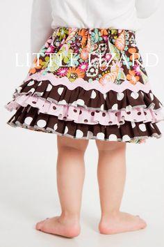 Girl's Skirt Pattern Ruffle Skirt Pattern by littlelizardking, $7.00
