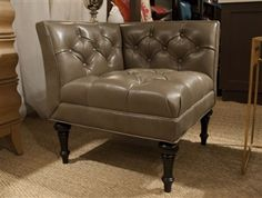 leather corner chair