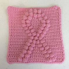 Squares work out to be about 8 inches when made with an H-hook and worsted weight yarn. These squares are meant to be added together to make in to a blanket, or can be used alone for things such as a wash cloth!