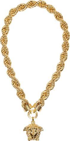 85c75871992d Versace Gold Twist Chain Medusa Necklace Versace Necklace, Men Necklace,  Versace Gold, Chunky