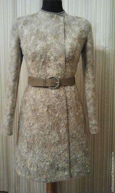 Верхняя одежда ручной работы. Валяное пальто. ndemuazel. Интернет-магазин Ярмарка Мастеров. Однотонный, каракулевый