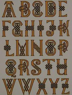 celtics alphabet nettlework