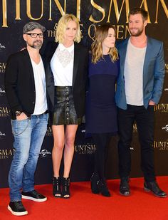"The cast of ""The Huntsman and The Ice Queen"" (The Huntsman: Winter's War) promoting their movie in Hamburg, Germany on March 30, 2016"