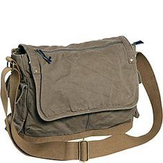 Vagabond Traveler Casual Style Canvas Laptop Messenger Bag - eBags.com