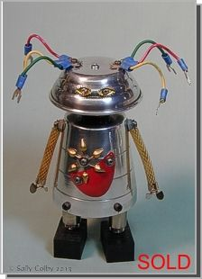 Susan, Found Object Robot ... by Sally Colby