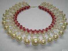 pearl necklace made by Anneli Piir from LC.Pandahall.com