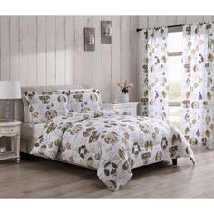 """Aubrie Home Dog Kisses 84"""" Puppy Animal Lover 2-Panel Pair Window Curtain Set Girls Comforter Sets, King Size Bedding Sets, King Comforter, Nautical Bedding Sets, Teal Bedding, Lined Curtains, Window Curtains, Paris Bedding, Bed Styling"""