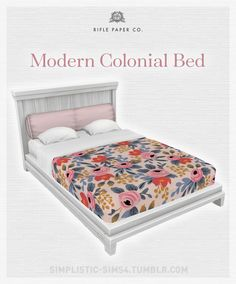 Modern Colonial BedRifle Paper CollectionYour Sims are sure to have sweet dreams in these lovely beds. The white frame has been lightened up a bit and includes 20 bedding swatches from the gorgeous Rifle Paper Collection.  The rest of the set can be...