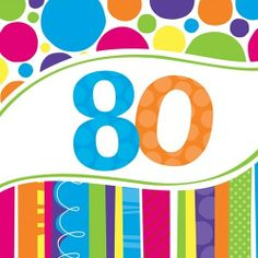 moms 80th birthday ideas   80th Birthday Bright and Bold Party Supplies & Decorations