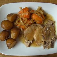 Tangy Slow Cooker Pork Roast Allrecipes.com Follow or Friend me I'm always posting awesome stuff:  http://www.facebook.com/tennie.keirn  Join Our Group for great recipes and diy's: www.facebook.com/groups/naturalweightloss1
