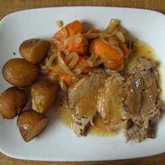 Tangy Slow Cooker Pork Roast Allrecipes.com