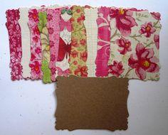 NEW MINI KIT  Shabby Chic Bright pink flowers MEDIUM Victorian mini chipboard kit CM304 by shabbybeautiful