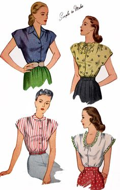1940s Vintage Sewing Pattern Simplicity 1554 Womens by sandritocat