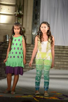 - mono batik degradé verdes c/ chaleco bordado - vestido superpuesto, calado