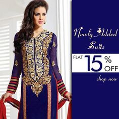 Checkout our #latest #collection of #suits @ FLAT 15% OFF