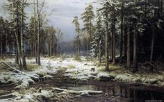 Ivan Shishkin - First Snow 1875