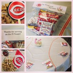Take Me Out to the Party! Baseball theme decor. Cincinnati Reds