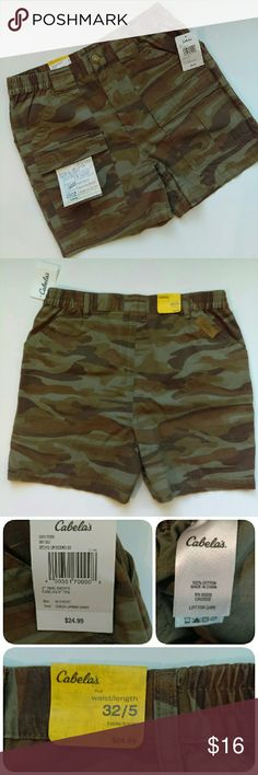 🆕 {Mens} Cabelas - camo shorts Brand new with tags. Very versatile shorts to wear anytime. From a smoke and pet free home. Fast shipping.   *I take offers on bundles  *All offers considered  *No trades Cabelas Shorts