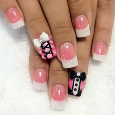 Cute basic nails, would skip the details but the basic colors are very classy