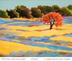 Red Tree, Morning Light Karen Lynn Ingalls Napa Valley